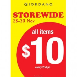 Giordano | Seletar Mall outlet opening special