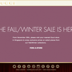 GUCCI | The Gucci Singapore Fall/Winter Sale is here