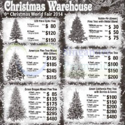 Wanyuan | Christmas trees and trims warehouse sale