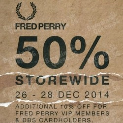 Fred Perry | 50% storewide sale boxing day special