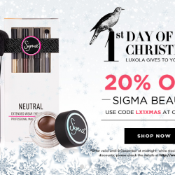 Luxola   Christmas Gifts and Cashback offers at Luxola SG
