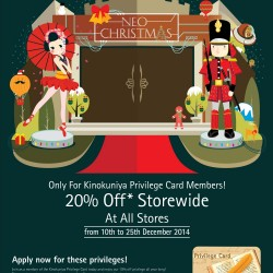 Kinokuniya | Neo-Christmas Promotion 20% off storewide