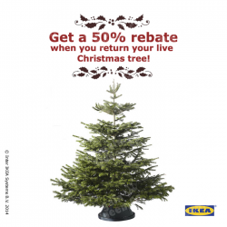 IKEA | 50% rebate with trade-in Christmas tree