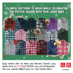 Uniqlo | Men's and Women's Flannel Shirts promotion
