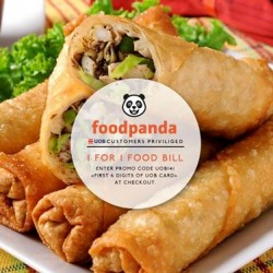 UOB | 1-for-1 food orders at Foodpanda