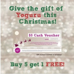 yoguru | Buy 5 Get 1 free gift vouchers