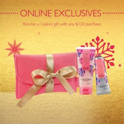L'OCCITANE | Free 3 pcs gifts with $120 purchase
