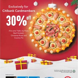 Pizzahut Singapore | 30% OFF A la carte Joy Pizza, Beef Goulash, Christmas Roast and Country Pie