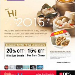 Crystal Jade | 20% off dim sum lunch for DBS cardmembers
