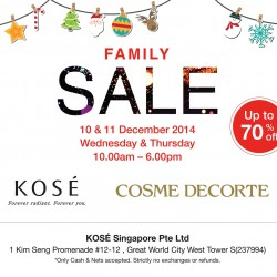 KOSÉ Singapore | Family Sale @ Great World City Tower West 2014