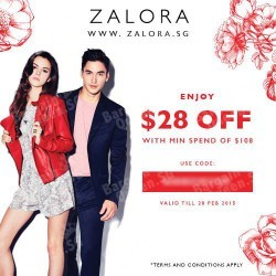 $28 off $108 purchase for UOB cards @ Zalora