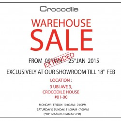 Extended Crocodile warehouse sale