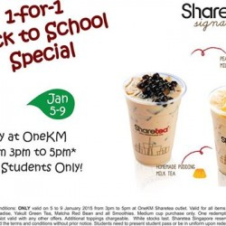Sharetea | 1-for-1 Back to School Special
