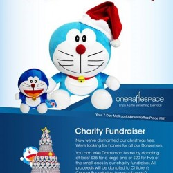 One Raffles Place | Doraemon plush sale for Children's Cancer Foundation