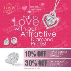 Triple Excellent GIA Certified Diamonds promotion @ Lovis Diamonds