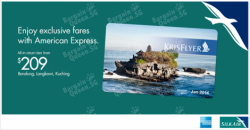SilkAir | Exclusive fares with American Express