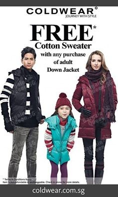 Free Cotton Sweater with purchase @ Coldwear