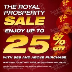 Royal Prosperity Sale up to 25% off @ Royal Sporting House