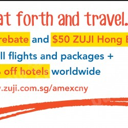 5% rebate & $50 Hong bao for Amex cards on ZUJI