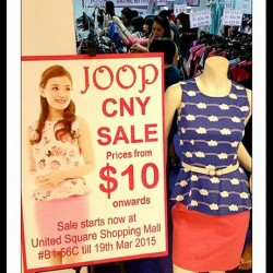 CNY SALE @ JOOP United Square Shopping Mall