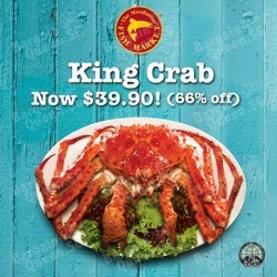 66% off King Crab @ Manhattan FISH MARKET