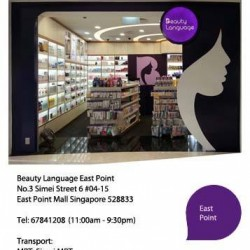 Beauty Language Atrium SALE @ Eastpoint