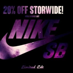 Limited Edt | Nike SB 20% OFF storewide promotion