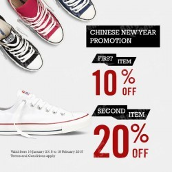New Arrivals and Chinese New Year Promotion @ Converse