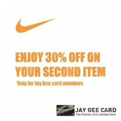 Nike | 30% off 2nd item for Jay Gee Card Members