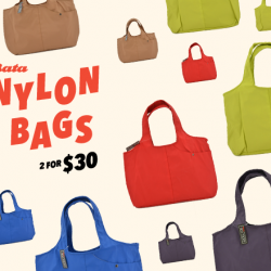 2 for $30 nylon bags @ Bata