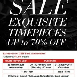 Exquisite timepieces sale @ Cortina Watch