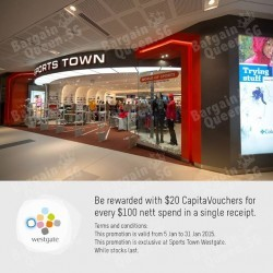 Westgate | $20 voucher with $100 spend at Sports Town