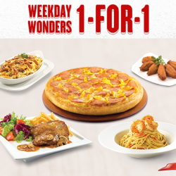 Pizza Hut | weekdays' 1-For-1 Deal
