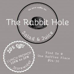 The Rabbit Hole opening special One Raffles Place