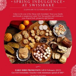 Get $10 Voucher with minimum spend of $80 @ Swissbake