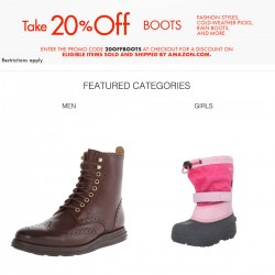 Amazon | 20% OFF Boots Coupon Code