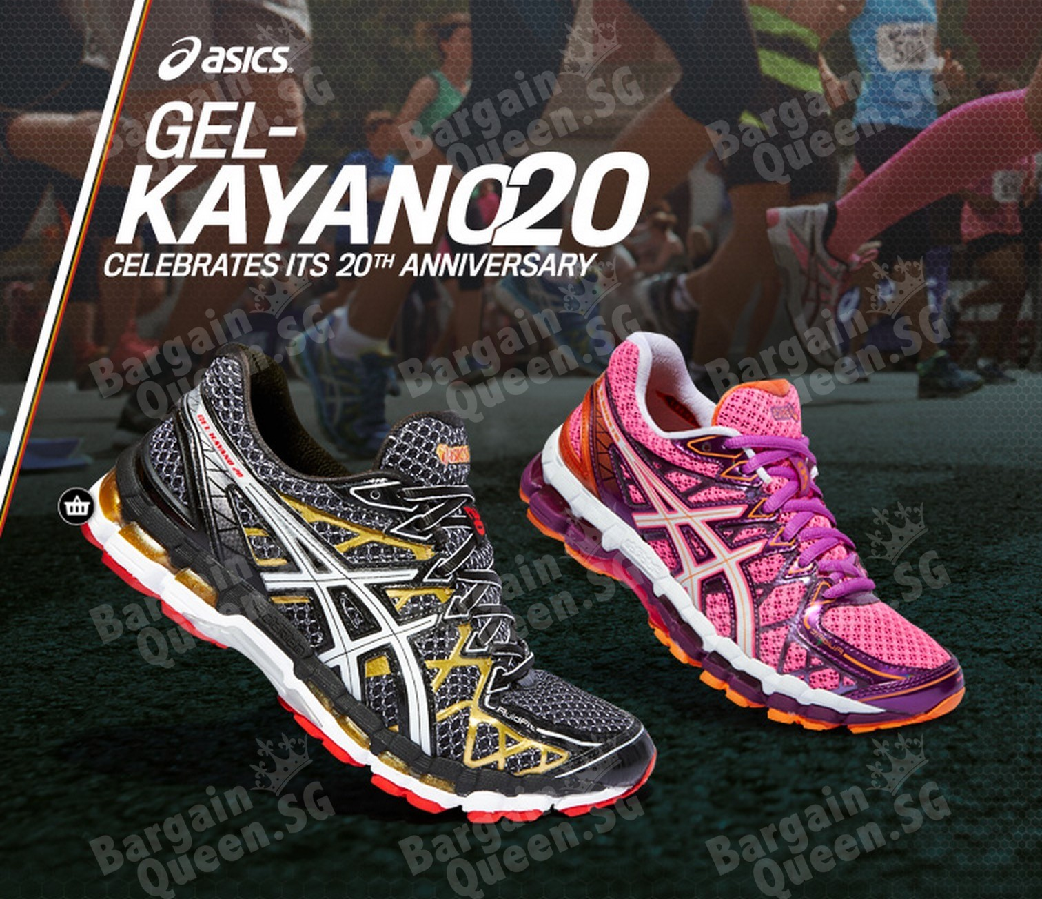 amazon asics gel kayano 20 running shoe bargainqueen. Black Bedroom Furniture Sets. Home Design Ideas