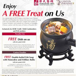 Free Treat on Paradise Inn and Canton Paradise