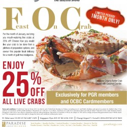 Seafood Paradise Feast On Crab: 25% OFF all live crabs