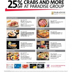 25% OFF Crabs and More at Paradise Group