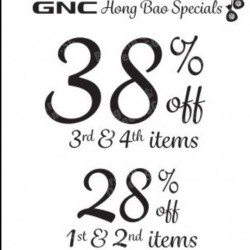 GNC | Up to 38% off Chinese New Year Promotion