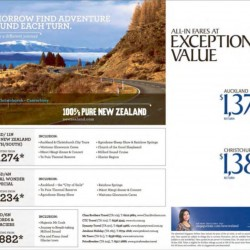 100% Pure New Zealand Flight Promotion by Singapore Airlines