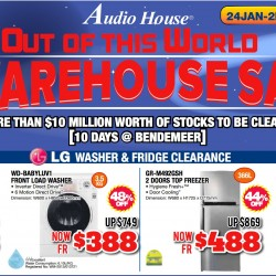 Up to 80% OFF Out of this world warehouse sale @ Audio House
