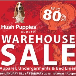 Hush Puppies warehouse sale up to 80% off