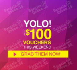 YOLO! vouchers up to $100 worth up for grab on LAZADA