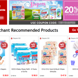20%  + 5% off @ Diaper SG on Rakuten with Master Card