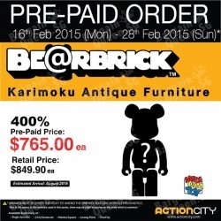 BE@RBRICK pre-order special @ Action City