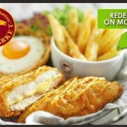 $6.95 for brand new 'Fishy Chicky Bang Bang' at The Manhattan FISH MARKET @ Groupon