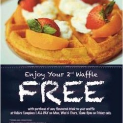 2nd waffle for free @ Gelare Tampines 1