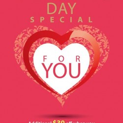 Additional $30 off Valentine's promotion @ Universal Traveller